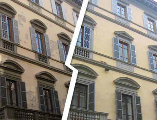 Ristrutturazione facciata via La Marmora